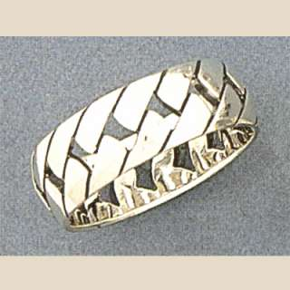Sterling Silver Mens Chain Link Ring Band Sizes 14 15