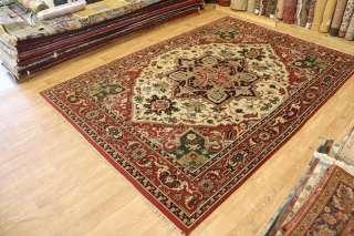 Outstanding New Heriz Indian Wool Handmade Oriental Area Rug Carpet