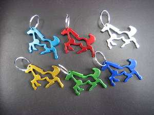 pc Metal Horse Key Chain Bottle Opener