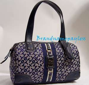 NEW Tommy Hilfiger Blue Handbag Tote Bag Purse