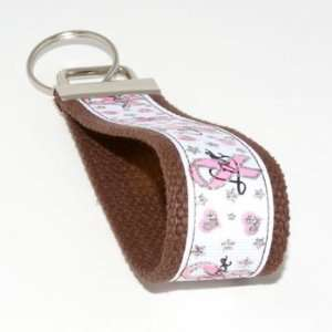Cancer Awareness 5   Brown   Keychain Key Fob Wristlet Automotive