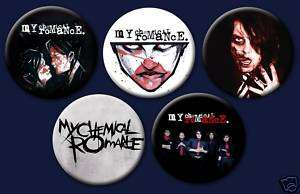 My Chemical Romance Emo Punk Rock 1 Buttons Pin Badges