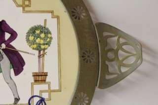 Antique Art Nouveau porcelain fairy tail serving tray/Platter.1900s