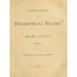 Record Of Miami Couny, Ohio Lewis Publishing Company Books
