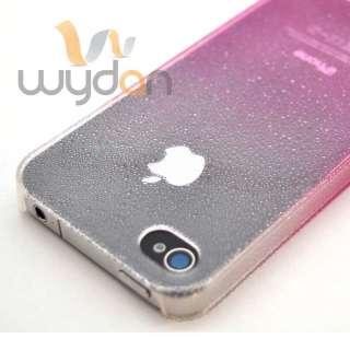 Pink Clear Rain Water Drop Design Thin Hard iPhone 4 4S Case w/ Screen
