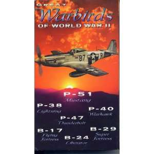Great Warbirds of World War II (VHS 32753) Books