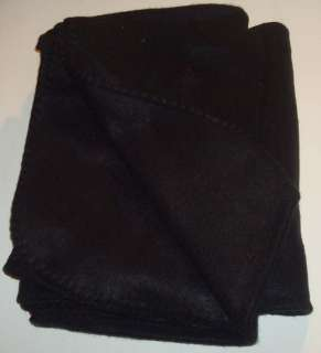 New Solid Black Fleece Throw Blanket 50x60 Soft Warm