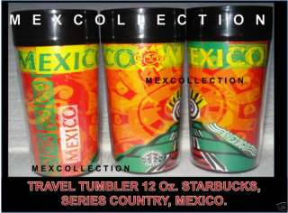 STARBUCKS TRAVEL TUMBLER 12 Oz SERIES COUNTRY MEXICO NW