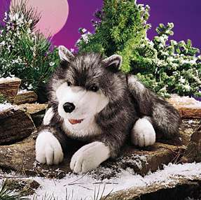 FOLKMANIS PUPPETS ~TIMBER WOLF #2171 Full Body 18 LONG~ FREE SHIPPING