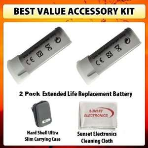 Ion Extended Life Replacement Battery Pack 1200mAh Each for Canon NB