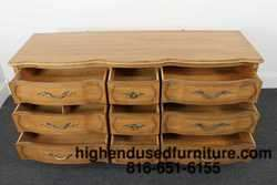 THOMASVILLE Camille French Provincial 62 Nine Drawer Dresser