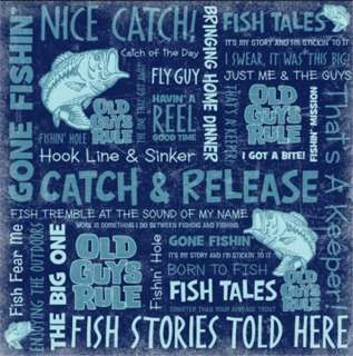 FISHING OLD GUYS RULE ScRaPbOoK PaPeR SET~4 Designs