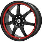 New 15X6.5 4x100 KONIG Forward Black Wheels/Rims
