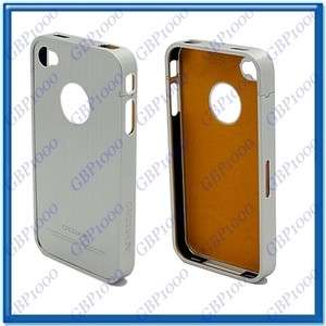 Metal Aluminum Hard Case Cover Set For Apple iPhone 4 4G Silver