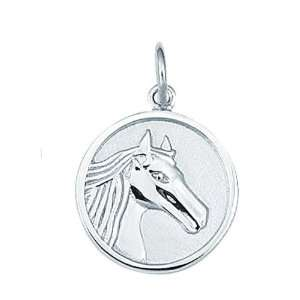 Sterling Silver Horse Head Charm Arts, Crafts & Sewing