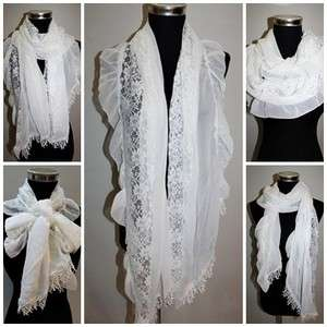 Garcons comme le fashion Stylish Mixed Lace ruffles chiffon des Scarf