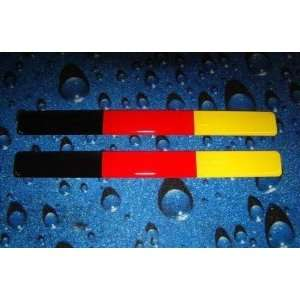 GERMANY (GERMAN) FLAG 3D DOMED Decal Sticker (2pcs