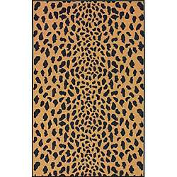 Collection Leopard Animal Print Gold Rug (45 x 69)