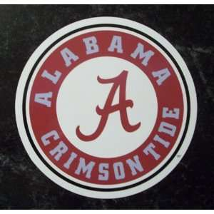 Alabama Crimson Tide Round Logo NCAA Car Magnet  Sports