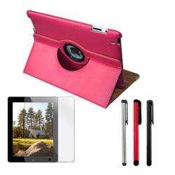 Deluxe Apple iPad 2 Leather Case/ Screen Protector/ Stylus Pen