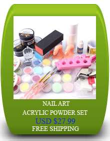 12 Colors UV Acrylic Nail Art Big Hexagon Glitter B17