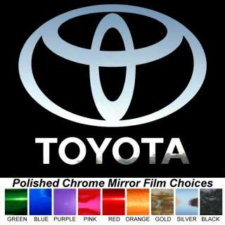 Toyota Logo 8 inch Polished Chrome Auto Sticker Decals