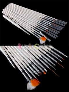 Full Cutter Buffer Brush Acrylic Glue Nail Art UV Gel Powder Tips Kit