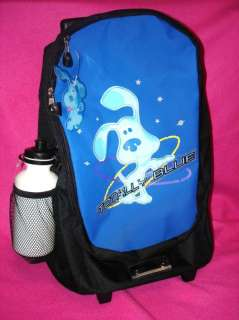 NEW BLUES CLUES LARGE ROLLING BACKPACK W/ WATER BOTTLE