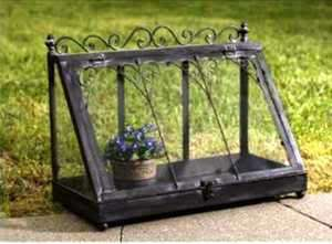 SHABBY FRENCH CHIC Display Case TERRARIUM Metal/Glass Wedding Envelope