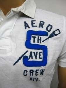 NWT 100% AUTHENTIC AEROPOSTALE MENS WHITE POLO T SHIRT 2XL