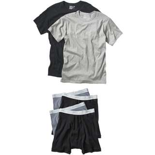 Hanes   Big Mens Assorted 2 Pack Tees & 4 Pack Boxer Briefs, Size 2XL