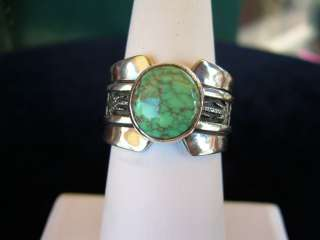NEW NATIVE AMERICAN NAVAJO KINGMAN TURQUOISE RING BY AL JOE