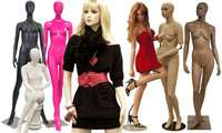different styles of unbreakable plastic mannequin displays