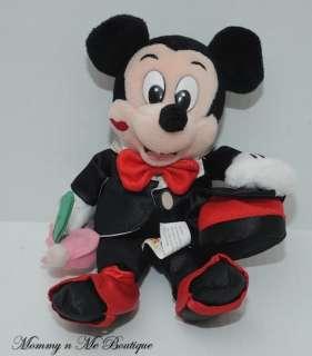 NWT Disney World Valentine Mickey Mouse Bean Bag Plush