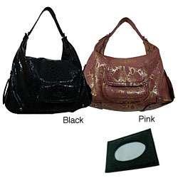 Valencia Python Large Leather Shoulder Bag