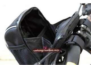 Cycling Bike Bicycle handlebar bag front basket Black with rain cover