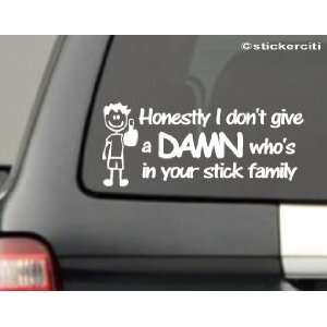 WHOS IN YOUR STICK FIGURE FAMILY Funny Vinyl Sticker
