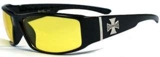 New Choppers Bikers Mens Sunglasses   Yellow lens C38