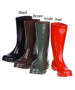 On Your Feet Satra Womens Tall Rubber Boot