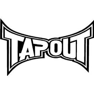 TAPOUT Giant 3 Foot WHITE VINYL STICKER / DECAL (Clothing