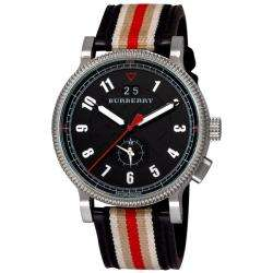 Burberry Mens Endurance Leather Strap Dual Time Watch