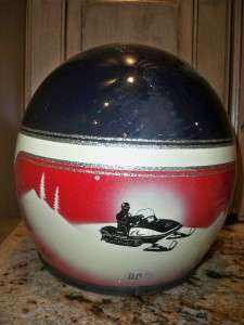 VTG N.J.L. Helmet Snowmobile Motorcycle Red White Blue