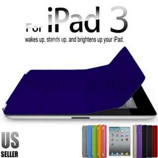 Smart Cover Slim PU Leather Case Wake/ Sleep Stand Multi Color