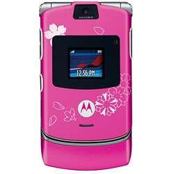 RAZR V3 Miami Ink Tattoo Cherry Blossom Cell Phone