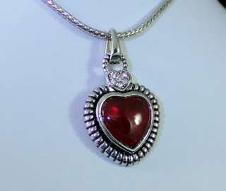 HEART OF OCEAN CHERRY AMBER AUSTRIAN RHINESTONE CRYSTAL NECKLACE