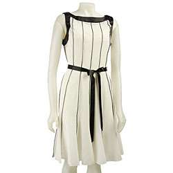 Sandra Darren Womens Pintuck Dress