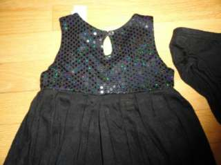 DKNY BABY TODDLER GIRLS BLACK RAYON DRESS 18M NWT $35   LOW INTL