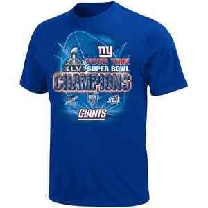 NY Giants Super Bowl XLVI Champions Shirts