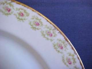 Pouyat Limoges Wanamaker Dinner Plate Pink Roses