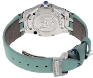 Lady Royal Oak Mother of Pearl Dial Diamond Sapphire Watch